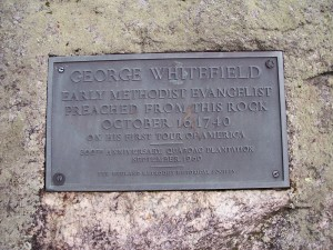 George Whitefield Plaque