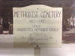 Methodist Cemetery Sign