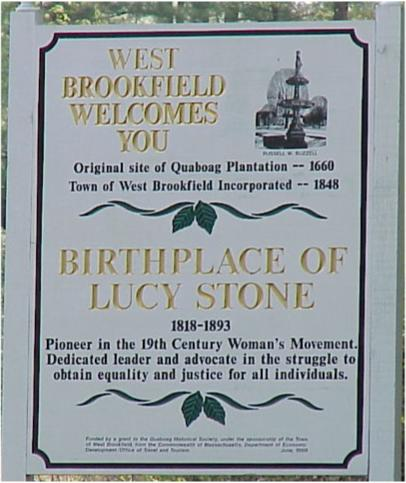 Lucy Stone Birthplace